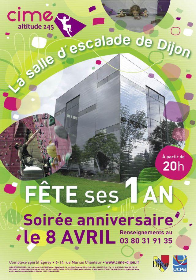 Sport Dijon : La salle d'escalade dijonnaise « Cime Altitude 245 » fête ses 1 ans !
