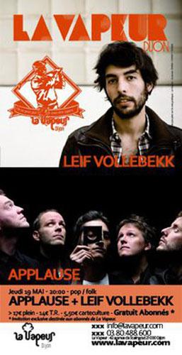Concert Dijon : Applause / Leif Vollebekk