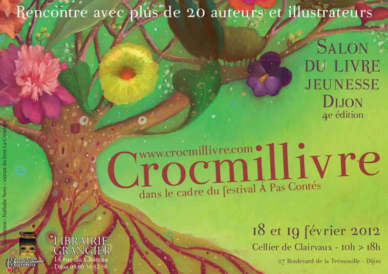 Evènement Dijon : Crocmillivre, 4e édition du Salon littérature jeunesse