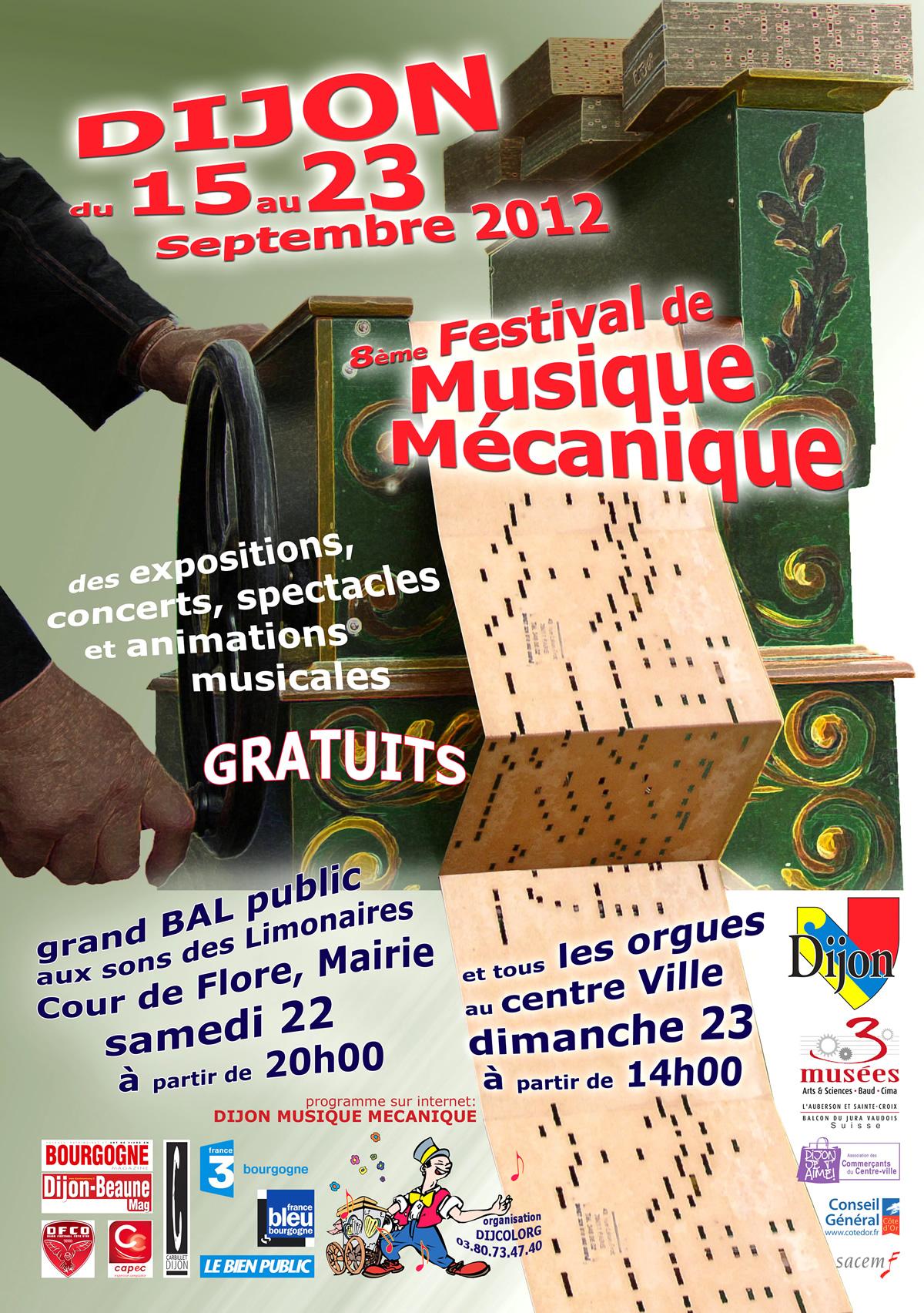 Evènement Dijon : Festival International de musique mécanique 2012