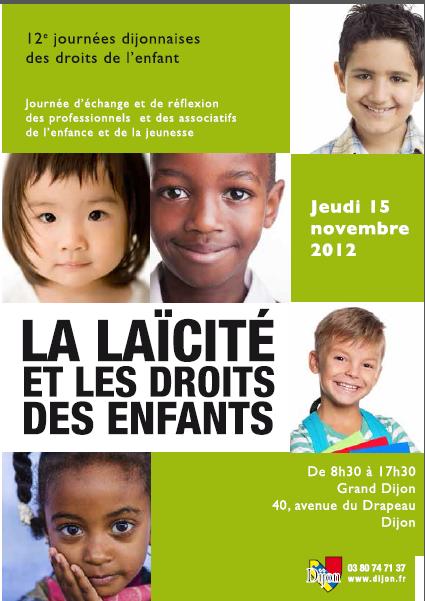 Evènement Dijon : 12ème Journées dijonnaises des droits de l'enfant (2012)