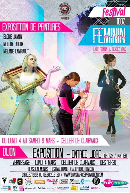 Exposition Dijon: Exposition de peintures 100% femmes
