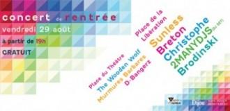 Dijon : Programme du «Concert de rentrée 2014″ à 18h00» – (Gratuit)