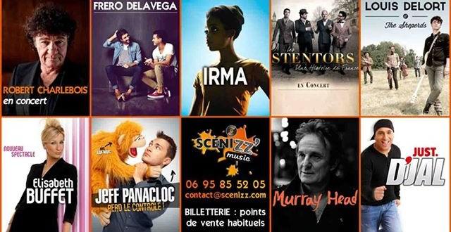 Spectacles «Scenizz Music»  2014 et 2015 sur Dijon / Dole / Besançon :