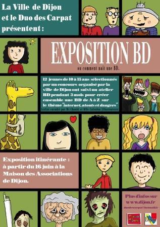 Exposition Dijon :  Bande Dessinée ou comment nait une BD ?