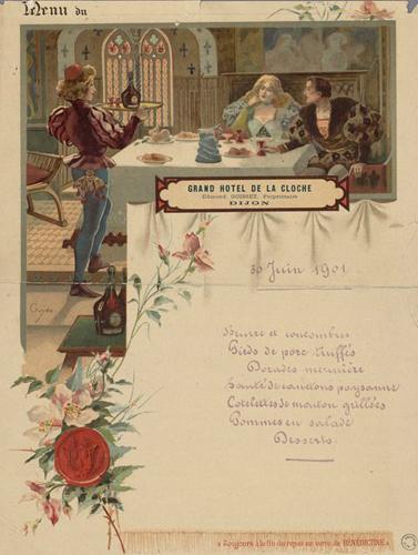 Evènement Dijon : Histoire(s) de menus