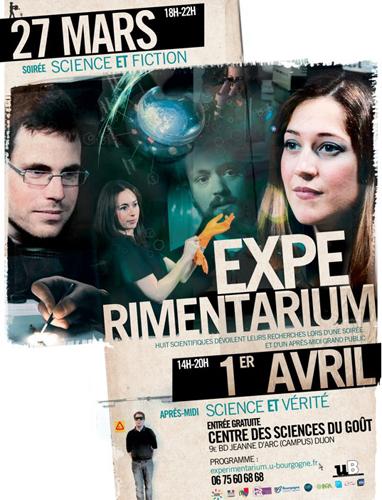 Evènement Dijon : Experimentarium – Soirée «science et fiction», après-midi «Science et vérité»