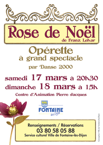 Spectacle Dijon : Rose de Noël
