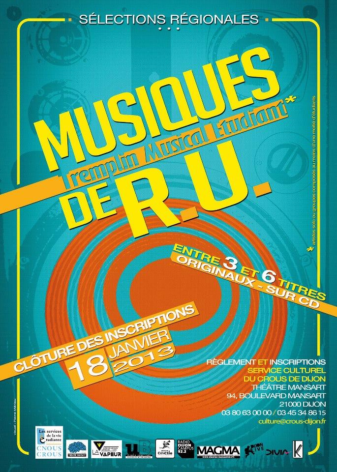 Evènement Dijon : Tremplin Musiques de R.U 2012